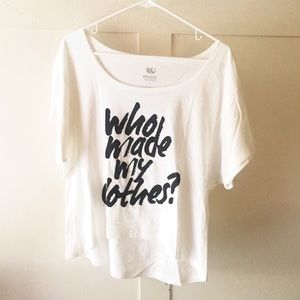 Wildlife Works Who Made My Clothes? White Boxy Tee